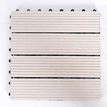 Samengestelde Decking Kit, Deck Composite Plus Decking Tegels, Tuin Samengestelde In elkaar grijpende Decking Tegels Gerec...