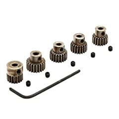 Fits 1/8 inch (3.17mm) Shaft Size Motors Variety of tooth pinions allows for more gear setups 48 Pitch Pinion Made of tough and durable metal