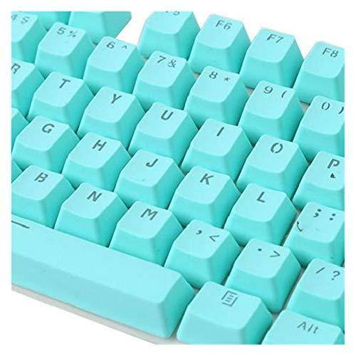 Conjunto de Llaves 106 Teclas KeyCap Keyboard PBT Color sólido Retracción de Fondo Key Caps Reemplazo Keycap Teclado keycaps (Color : Cyan)