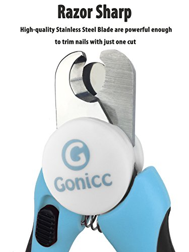 gonicc Dog & Cat Pets Nail Clippers and Trimmers - with Safety Guard to Avoid...