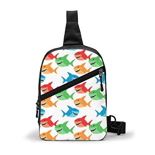 Guan_Collection Sharks Baby Boy Nursery Chest Package Multipurpose Crossbody Sling Backpack Outdoor Shoulder Bag Travel Hiking Daypack Men & Women Casual Sport Rucksack