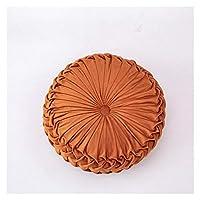 皆さんに適しています北欧丸枕妊娠中の座席クッションベルベットカタールハソックピロー手動ホイール布団床PouF (Color : Orange, Size : 35x10cm)