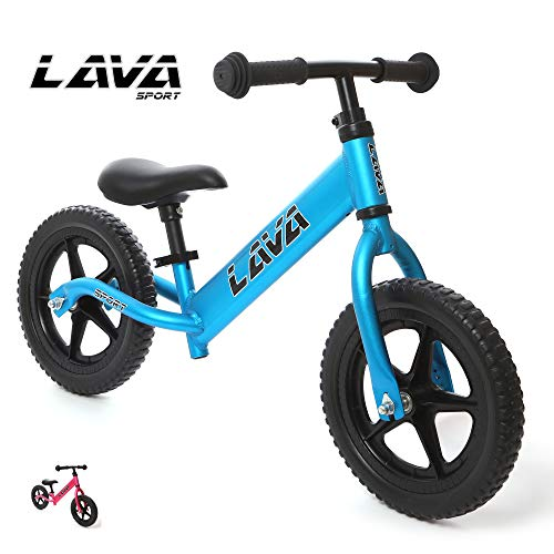 LAVA SPORT Balance Bike - Ultra Lightweight Aluminum - for Toddlers and Kids 2, 3, 4 Year Old (Fuji Blue)