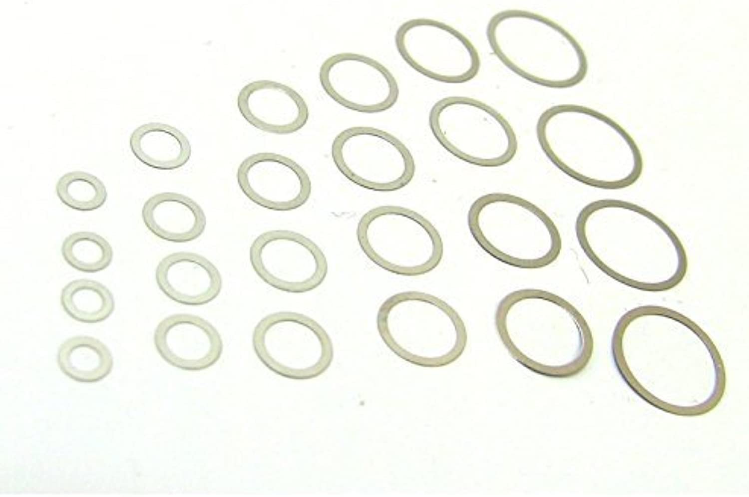 HOTRACING W100X1 6 Size .01 Shim Pack 28mm by Hot Racing