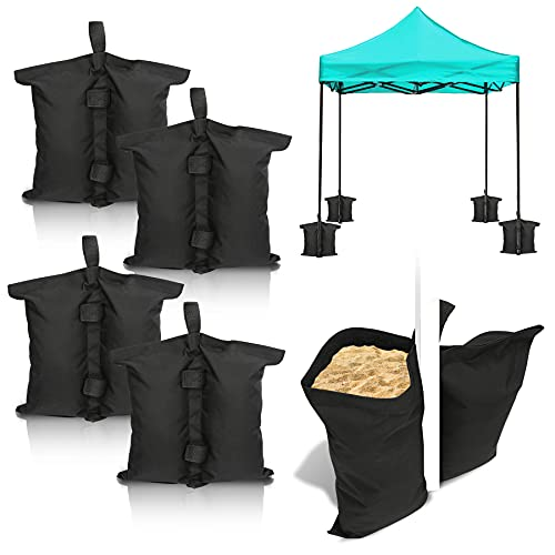 Faziango Pavillon Sandsäcke 4er Set Hochwertige Sandsäcke Pavillonstandfüße für Zelte Pavillon Gewichte Standsicherung
