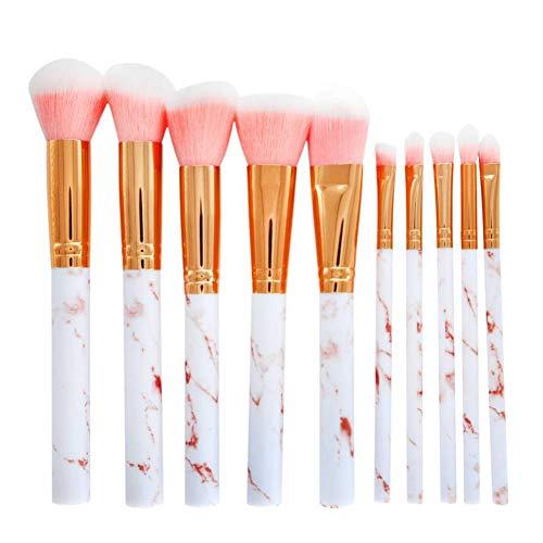 OPSBNWEUYS 2019 Brosses 10 Pcs Maquillage Pinceau Professionnel Visage Ombre À Paupières Eyeliner Foundation Blush Lèvres Maquillage Pinceaux Outil en Gros