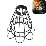 whelsara Gabbia della Lampada della Protezione della Lampadina del Metallo, Paralume della Lampada del Riscaldamento dell'animale Domestico Supporto della Lampada del Calore del Rettile Copertura