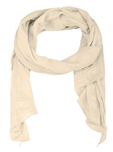 Zwillingsherz Seiden-Tuch für Damen Mädchen Uni Elegantes Accessoire/Baumwolle/Seiden-Schal/Halstuch/Schulter-Tuch oder Umschlagstuch einsetzbar - hbg