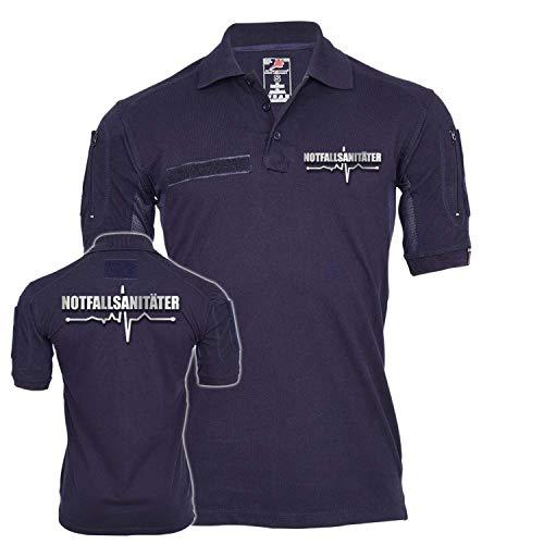 Copytec Tactical Poloshirt Notfallsanitäter Sani Notall Beruf Berufung Einsatz #25307, Größe:M, Farbe:Dunkelblau