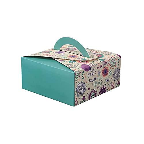 Tomedeks Caja De Pastel De Caja De Cartón Natural De 12 Piezas, Utilizada Para Empaques De Pastelería, Recipiente De Pastelería, Puede Contener 4 Pasteles, Tamaño 14 * 14 * 6.5cm
