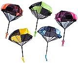 Gresunny 5 Piezas paracaídas Juguete Mano Que Lanza el Juguete de Paracaidista con Soldados Juguetes voladores Set al Aire Libre para niños y Adultos