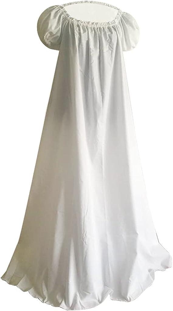 1791's lady Regency Dress Jane Austen Vintage Dress High Waistline Tea Gown