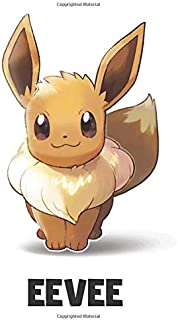 Eevee: Pokemon Notebook, Eevee Notebook, Pokemon Go, Best For Kids, Journal, Diary (110 Pages, Blank, 6 x 9)