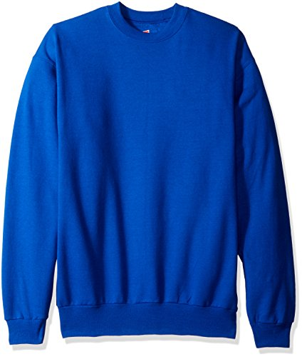 Hanes Men's EcoSmart Sweatshirt, Deep Royal, Large