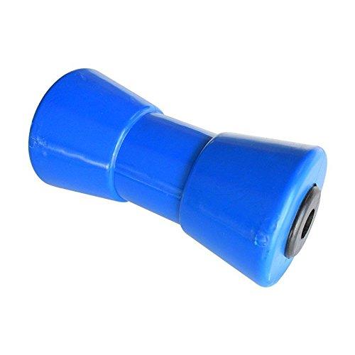 Todoneumaticas Rodillo quilla PU 195mm remolques Nauticos (Azul)