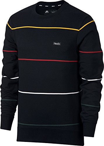 Nike SB Evert Stripe Sweatshirt Black Bl Größe: S