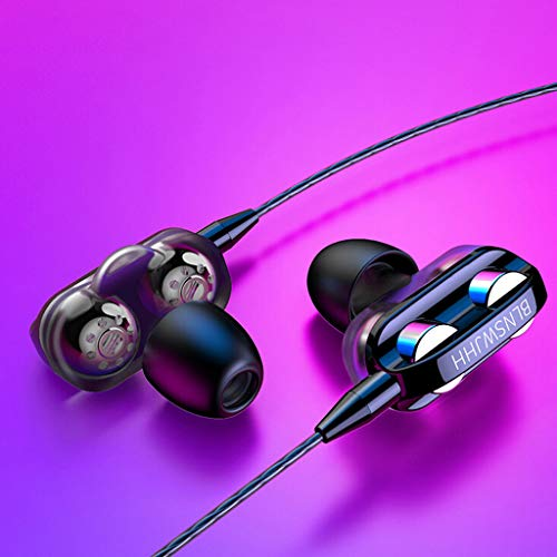 3.5mm In-Ear Wired Earphones Super Bass Wired Earbuds with Microphone Headphones HIFI Stereo Noise Isolating Ergonomic Sport Earphones Compatible with Smartphones, PC, Tablet