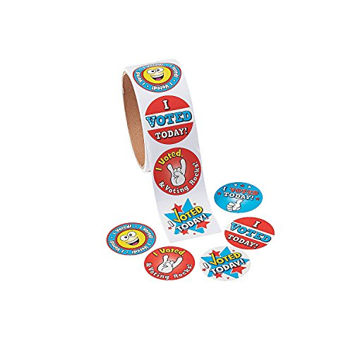 I Voted Today Roll Stickers - 100 Stickers - Classroom and Voting Supplies