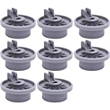 Ultra Durable 165314 Dishwasher Lower Rack Wheel Replacement Part by Blue Stars - Exact Fit for Bosch & Kenmore Dishwashers - Replaces 420198 AP2802428 PS3439123 - PACK OF 8