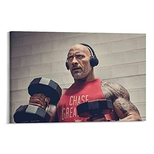 CHUNJIAN Póster de la campaña muscular de Dwayne Johnson de 20 x 30 cm