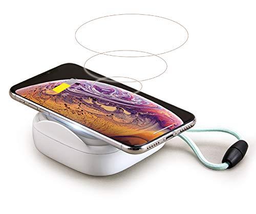 MiPow PopCandle 10000mAh 18W Wireless Powerbank mit PD Power Delivery USB C und eingebauter Lampe kompatibel mit iPhone, Samsung, Huawai und Anderen Smartphones