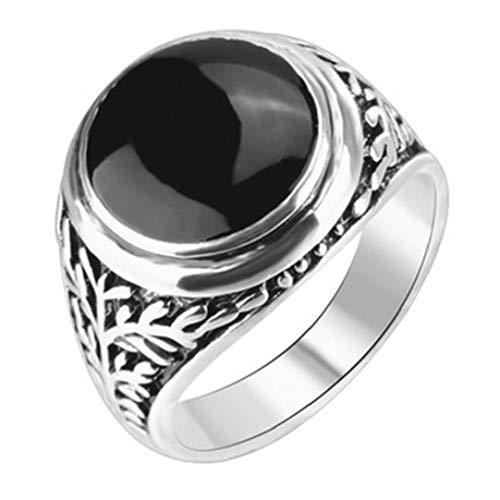 Casecover Vintage Klassische Hohle Strass Mann-Ring-schwarz-emaille Mann-Finger-Ringe Für Männer Größe 8