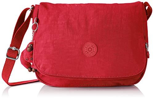 Kipling - Earthbeat M, Bolsos bandolera Mujer, Rojo (Radiant Red C), 10.5x30x22.5...