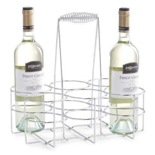 Zeller Flaschenhalter für 6 Flaschen, Chrom 32x22x31