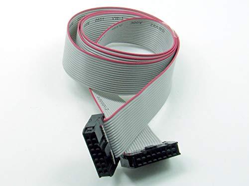 POPESQ® - IDC Kabel/Cable 16 polig (2X 8) cca. 30 cm / 0.3 m lang/Long, Flachbandkabel Ribbon #A585