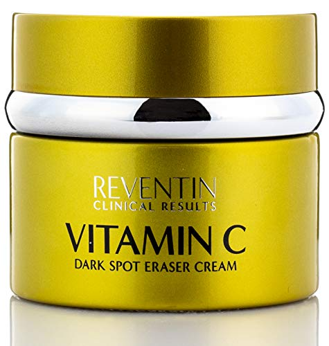 Vitamin C Dark Spot Eraser Cream Brightens Hyperpigmentation to Reduce Fine Lines and Wrinkles Dark Spot Remover Moisturizing Face Cream for Women & Men by Reventin Clinical Results, 1.5 fl oz.