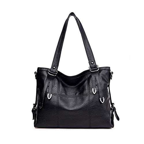 Leather Luxury Handbags Women Bags Designer Hand Bags For Women Casual Tote,Black