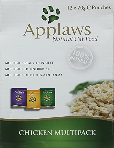 Applaws Cat Food Pouch Multipack Selezione di Pollo brodo
