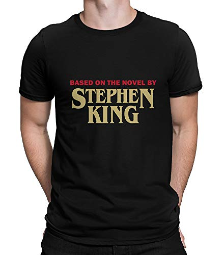 Based On The Novel by Stephen King Graphic T-Shirt, Premium Cotton Men's Tee (XL) Black