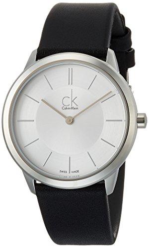 Calvin Klein Homme Analogique Quartz Montre avec Bracelet en Cuir K3M221C6