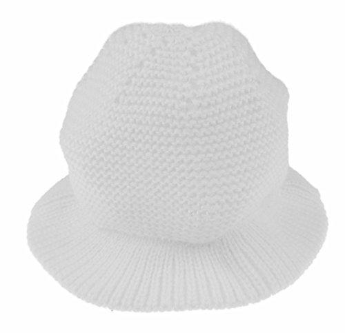 Glamour Girlz Adorable bonnet en tricot fin pour bébé fille garçon - Blanc - 1 mois