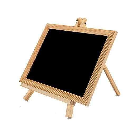 Office Chalkboard Signs,Small Chalkkboard Children's Drawing Board Desktop Writing Board Message Board Signs with Bracket for Home Decor Kitchen Wedding (Color : Black, Size : A)