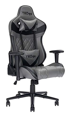 Techni Sport XL Ergonomic Gaming Chair, Grey
