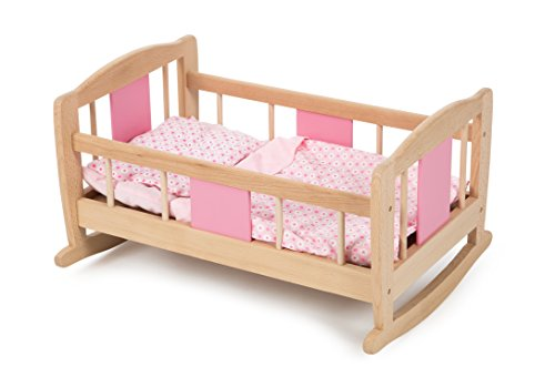 Tidlo Wooden Doll's Rocking Cradle