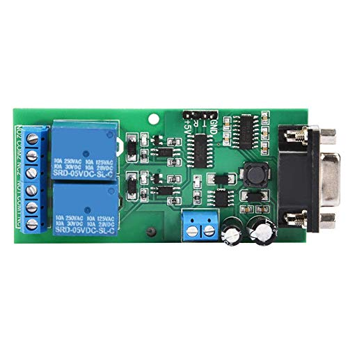 Serial Port Control Relay Module, YYE-2 RS232 UART Serial Port Remote Control Relay Module Board MCU PC Control Switch