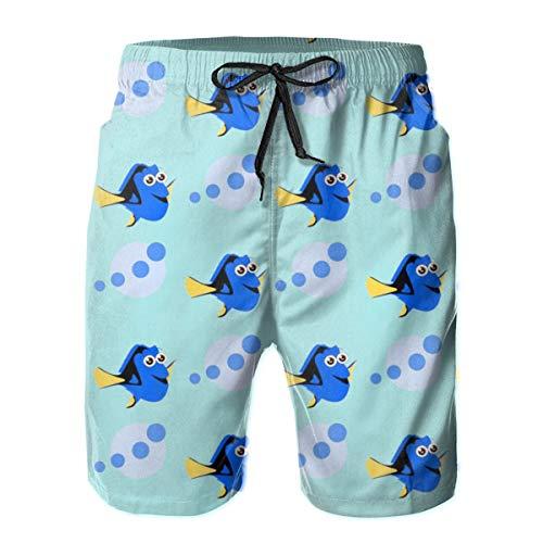 huibe Niedliche Dory Fish Herren Badeanzug Unterwäsche Boardshorts mit Tasche, Größe M.