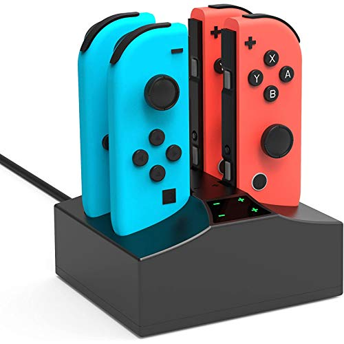YCCSKY Charger Charging Station for Nintendo Switch, 4 in 1 Switch Joycon Controller Charger Charging Dock Stand with Type C Charging Cable