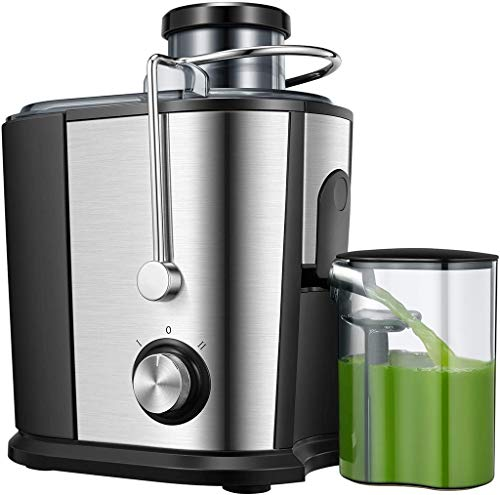 Juicer Juicer Machine, Wide Mouth Juice Extractor 800W, Juicers for Whole Fruit and Vegetable, Anti-drip Function, Dual Speed Settings Centrifugal Juicer