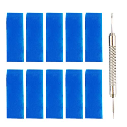 Baluue 11Pcs Bucles de Reloj de Silicona Correa de Reloj de Silicona con Herramienta de Barra de Resorte de Reloj para Herramienta de Correa de Correa de Reloj (Azul Oscuro)