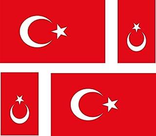 Akacha - 4 Adesivi Bandiera della Turchia