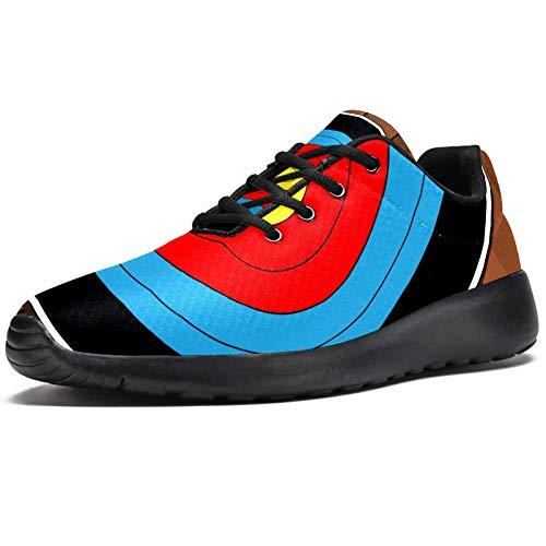 TIZORAX Scarpe da corsa da uomo per freccette su tavola in legno, scarpe da ginnastica in rete, traspiranti, per camminate, escursionismo, tennis, taglia 4,5, Multicolore (Multicolore), 46 EU