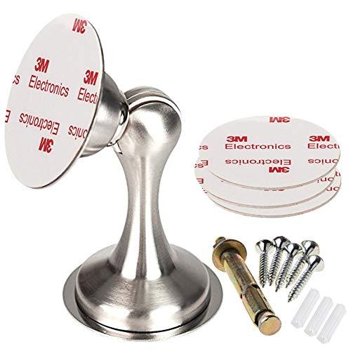 Tope magnético para puerta de acero inoxidable con cinta adhesiva de doble cara con 3M, para uso comercial en el hogar, oficina, sin necesidad de taladrar, de Senma Electronics