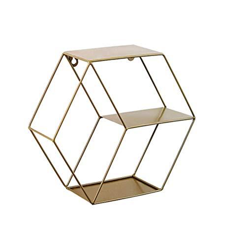 Estantes FlotantesEstante De Flores De Exhibición De Pared De Arte Hexagonal Geométrico...