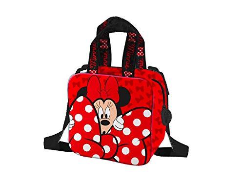 Minnie Mouse Coriex Mädchentasche mit 2 Trageoptionen - abnehmbarer, Schultergurt und zwei Tragegriffe, Maße: L16 x H16 x W8cm