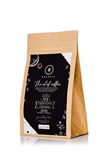 BOHORIA® Coffee | Ganze Kaffee-Bohnen | Café Crema, 500g | Premium Arabica, Stärkegrad 3 von 5, säurearm | Roasted in Italy | geeignet für Kaffeevollautomat | ZipBag für lange Haltbarkeit