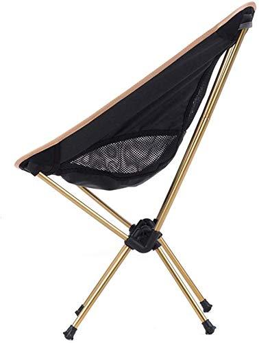 GBX Einfache Multifunktionsklapphocker, Im Freien Beweglichen Ultra-Light Klappstuhl, Angeln Sketching Hockers, Aluminium Chair Beine, Gold Und Silber Klappstuhl,Gold